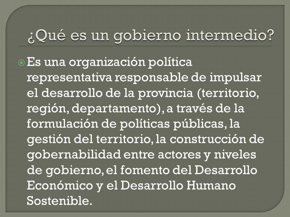 Se ha avanzado en la definición del rol del nivel intermedio de gobierno.
