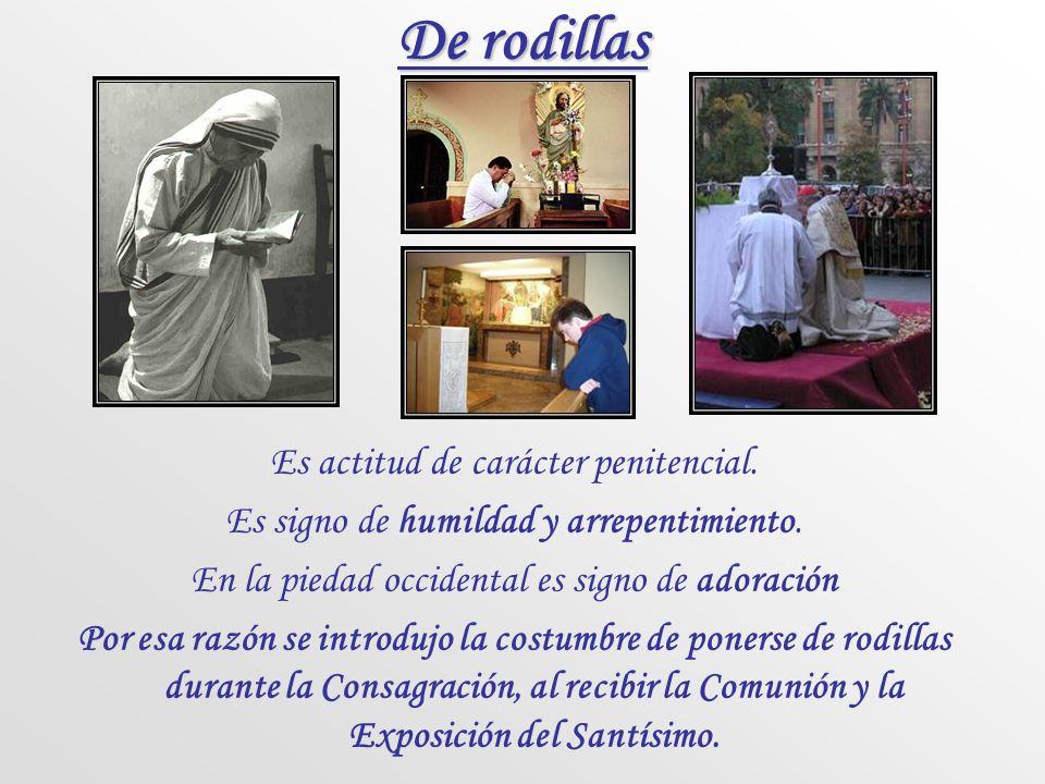 Joseph Ratzinger, El espíritu de la liturgia, ed. Cristiandad El estar de pie es el gesto del vencedor. Jesús está de pie en la presencia del Padre, e