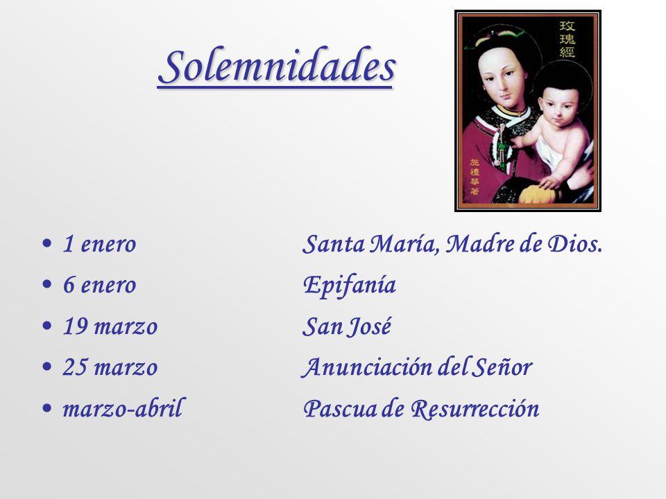 CICLO SANTORAL Paralelamente al Ciclo temporal se celebra el Ciclo santoral que tiene por finalidad conmemorar otros acontecimientos de la vida de Jes