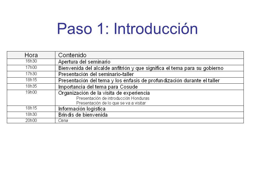 Paso 1: Introducción