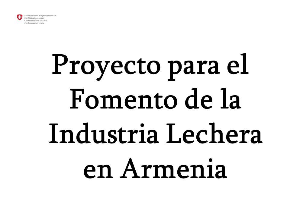 Proyecto para el Fomento de la Industria Lechera en Armenia