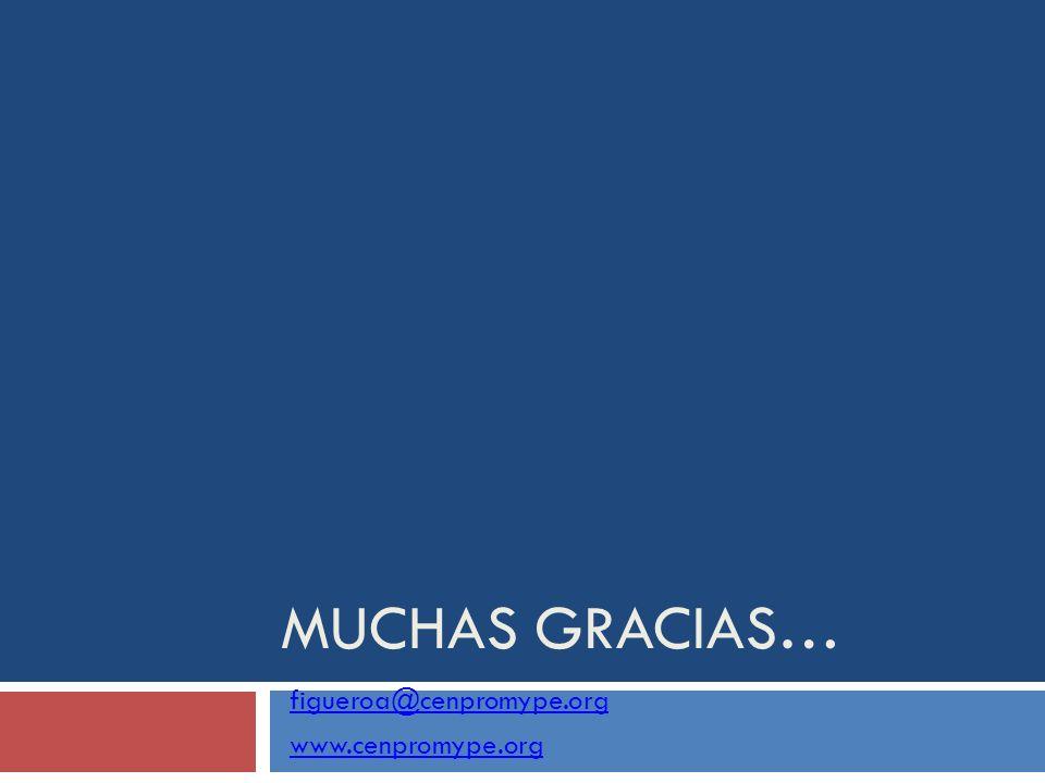 MUCHAS GRACIAS… figueroa@cenpromype.org www.cenpromype.org
