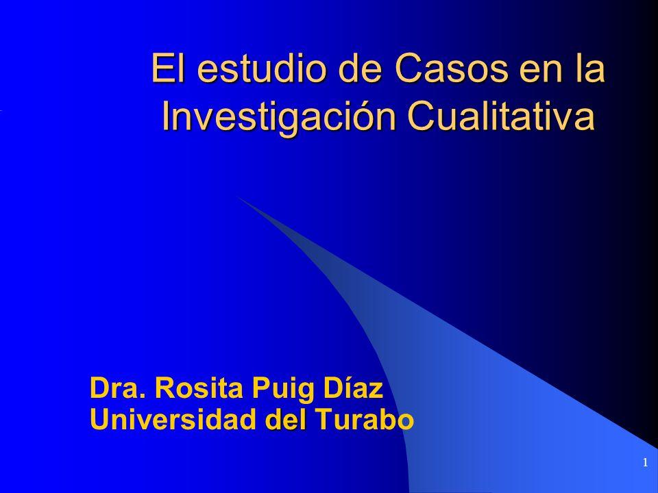 1 El estudio de Casos en la Investigación Cualitativa Dra. Rosita Puig Díaz del Universidad del Turabo
