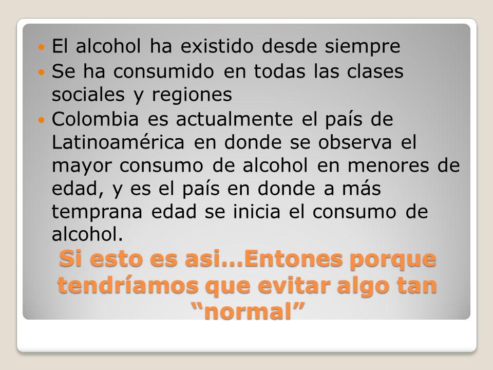 Si esto es asi…Entones porque tendríamos que evitar algo tan normal El alcohol ha existido desde siempre Se ha consumido en todas las clases sociales