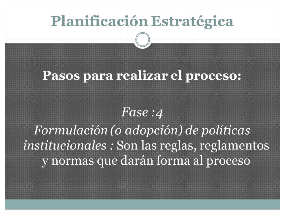 Planificación Estratégica Pasos para realizar el proceso: Plan_Comprensivo_Escolar_forma.doc Fase :5 Análisis del ambiente externo