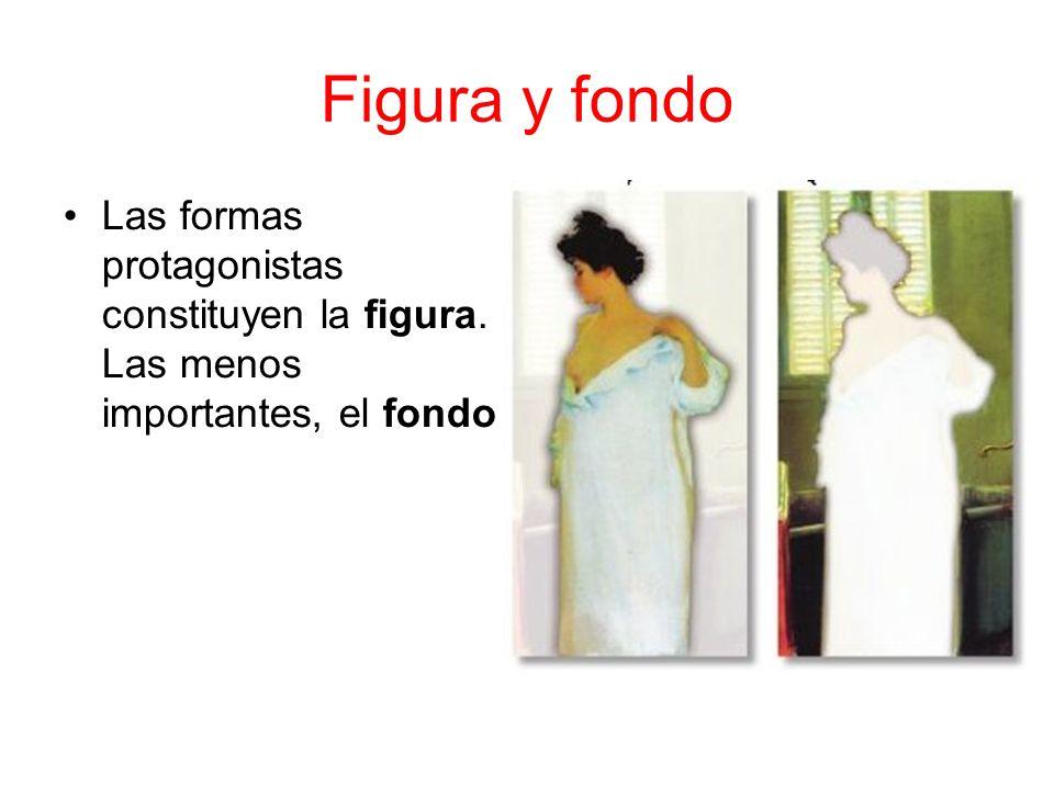 Figura y fondo Las formas protagonistas constituyen la figura. Las menos importantes, el fondo
