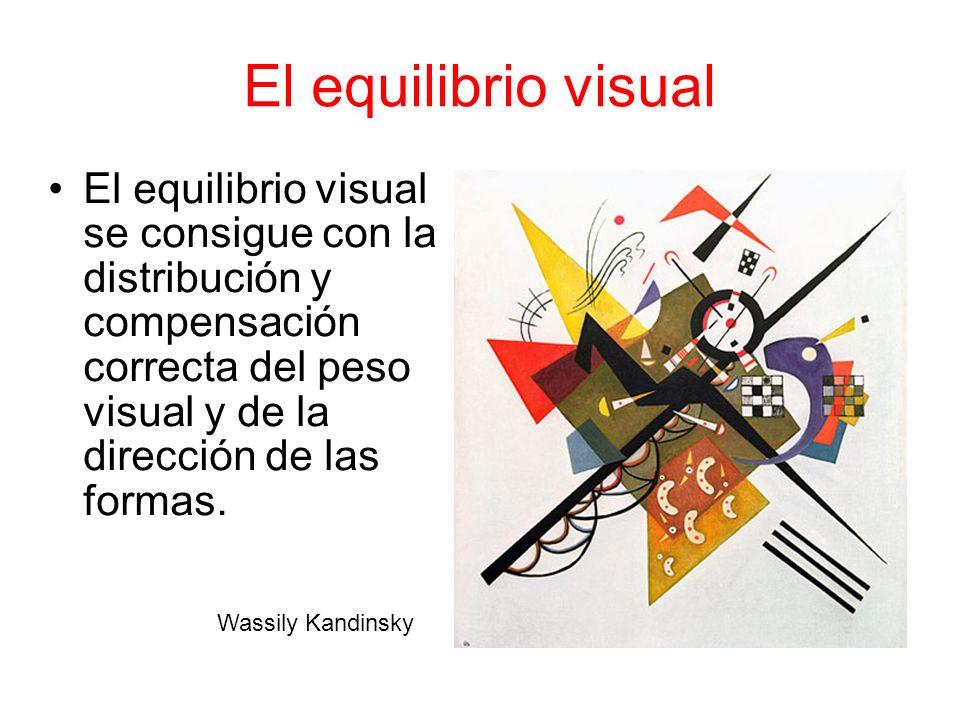 El equilibrio visual El equilibrio visual se consigue con la distribución y compensación correcta del peso visual y de la dirección de las formas. Was