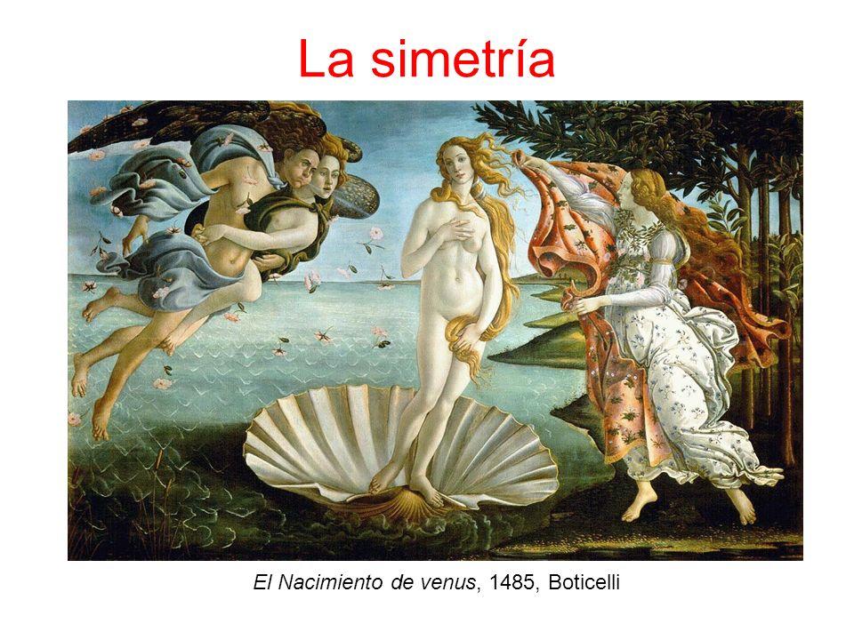 La simetría El Nacimiento de venus, 1485, Boticelli