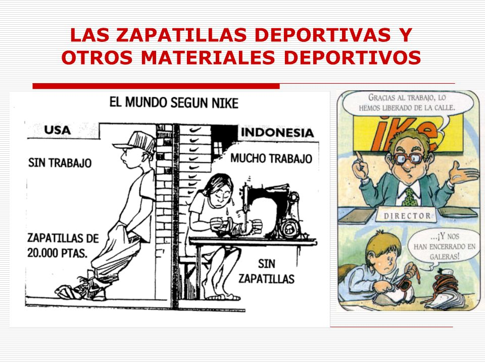 LAS ZAPATILLAS DEPORTIVAS Y OTROS MATERIALES DEPORTIVOS