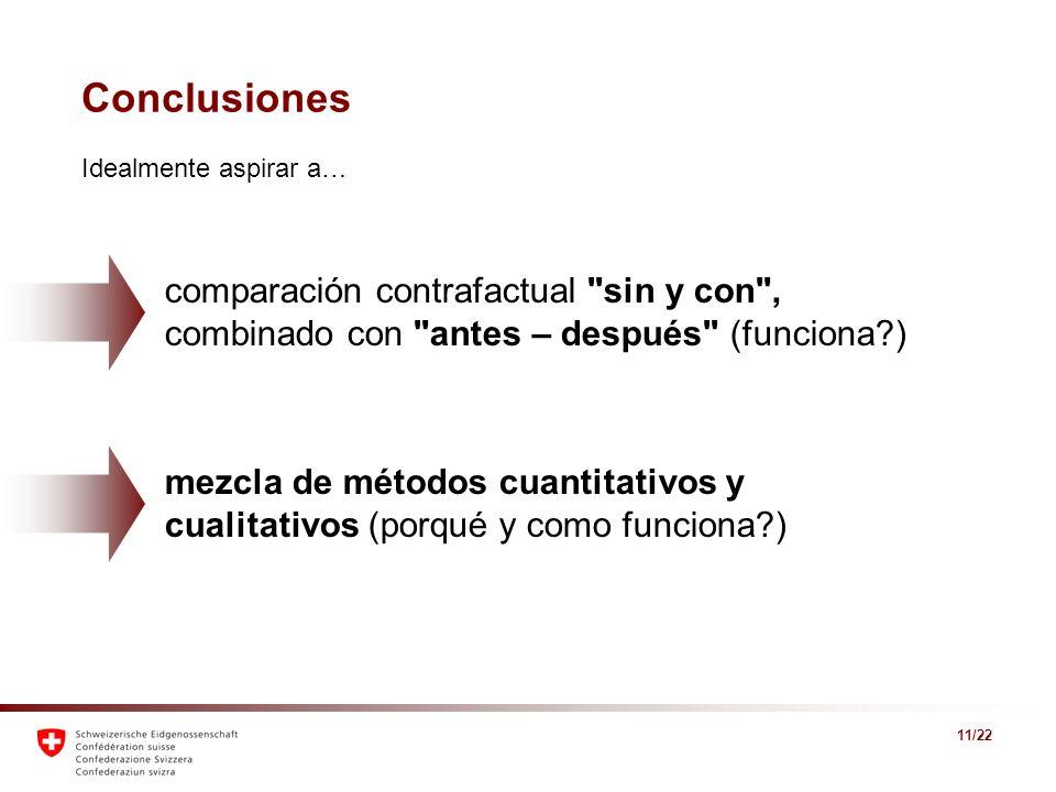 11/22 Conclusiones comparación contrafactual