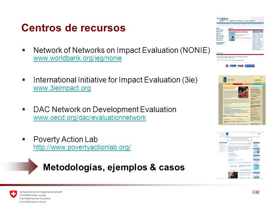 3/22 Centros de recursos Network of Networks on Impact Evaluation (NONIE) www.worldbank.org/ieg/nonie www.worldbank.org/ieg/nonie International Initia