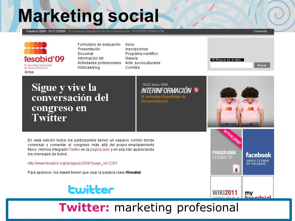 Marketing social Twitter: marketing profesional