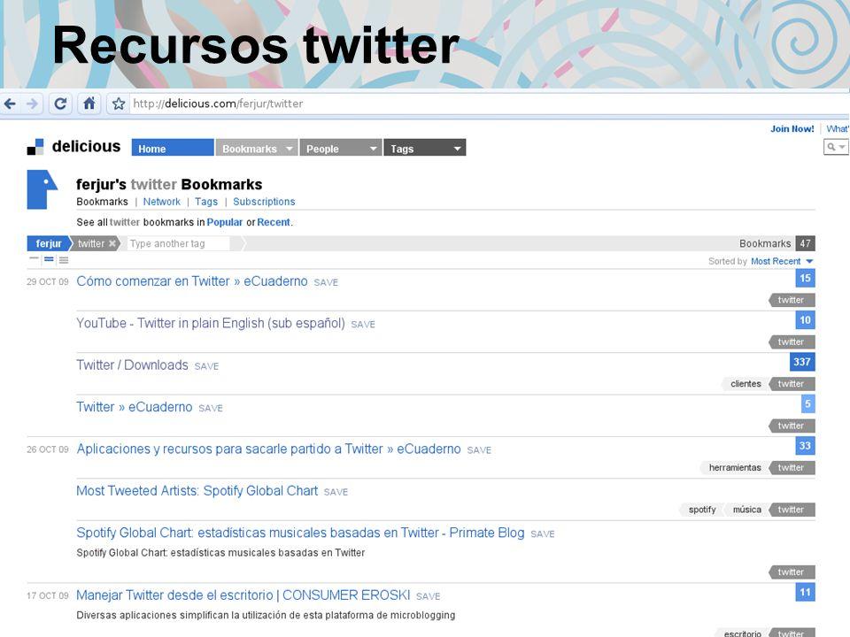 Recursos twitter