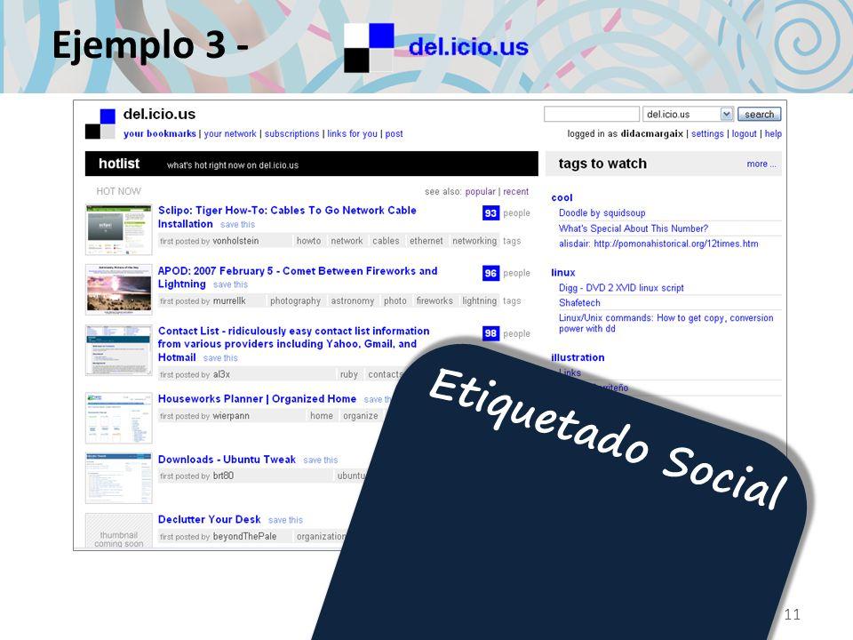 Ejemplo 3 - 11 Etiquetado Social