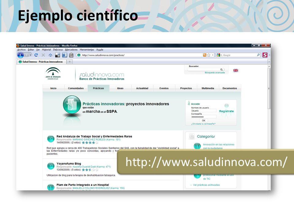 Ejemplo científico http://www.saludinnova.com/