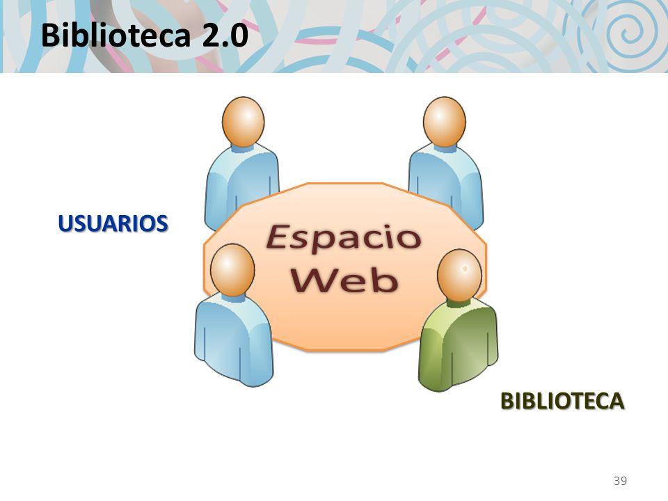 Biblioteca 2.0 USUARIOS BIBLIOTECA 39