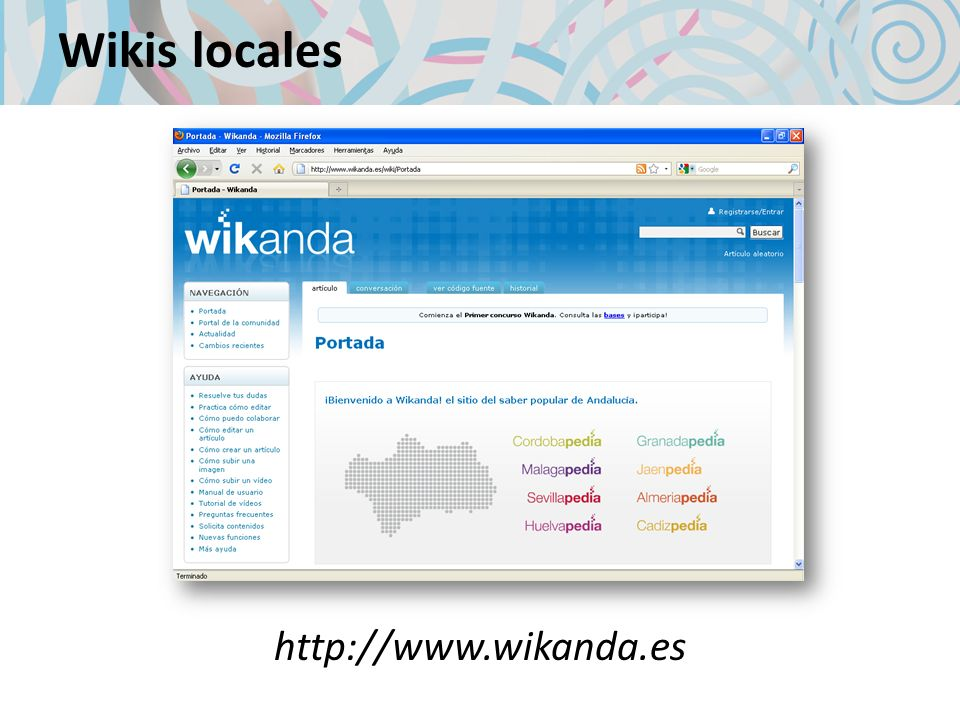 Wikis locales http://www.wikanda.es