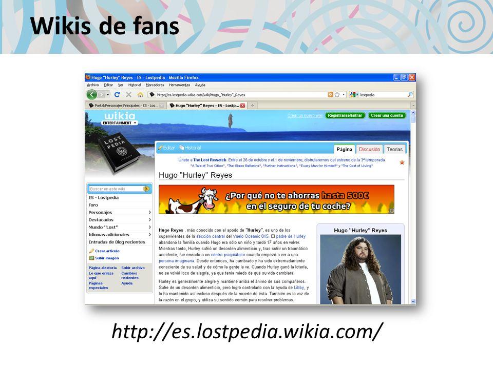 Wikis de fans http://es.lostpedia.wikia.com/