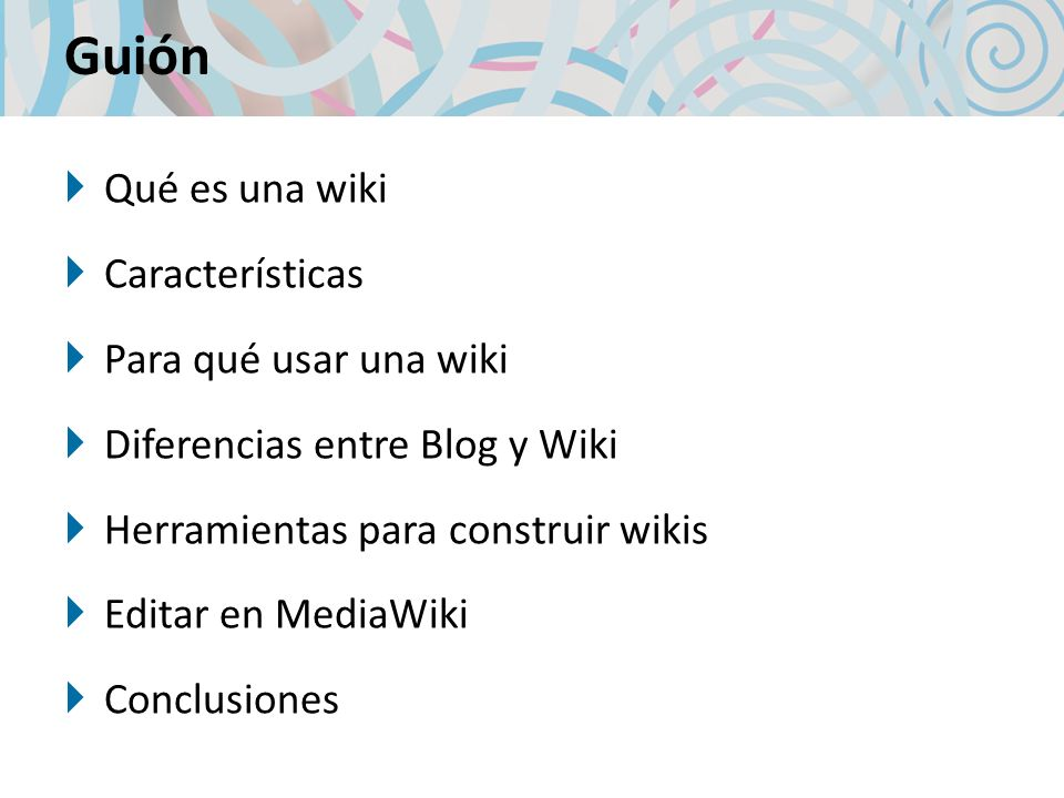 Software para construir wikis MediaWiki http://www.mediawiki.org/ Twiki http://twiki.org/