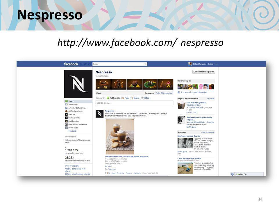 Nespresso 34 http://www.facebook.com/ nespresso