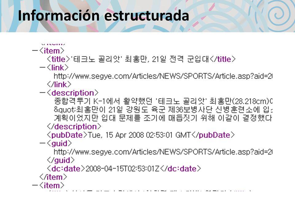 Información estructurada