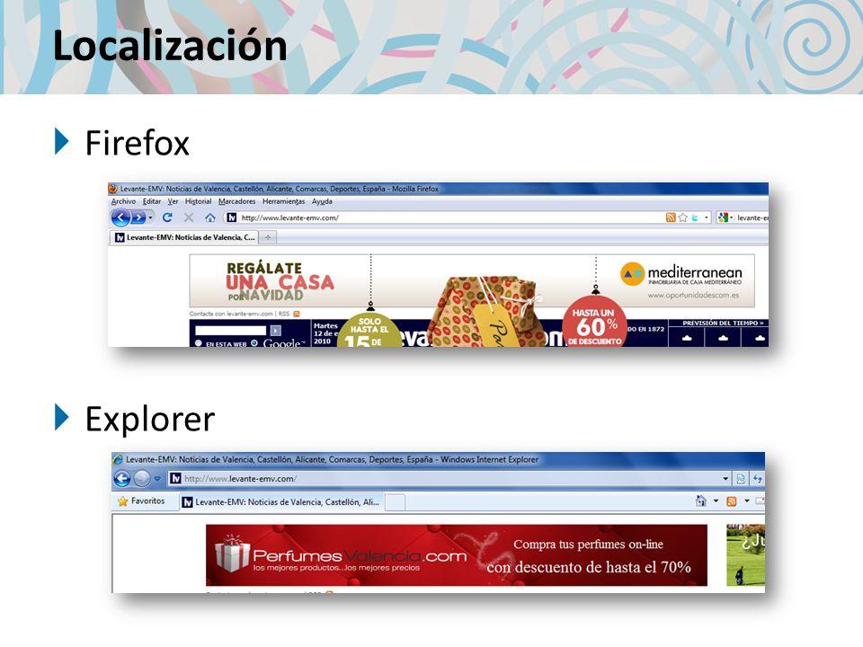 Localización Firefox Explorer
