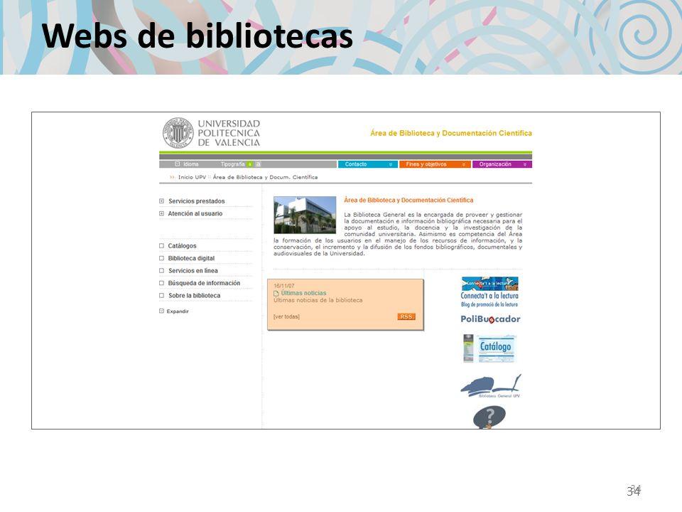 34 Webs de bibliotecas 34