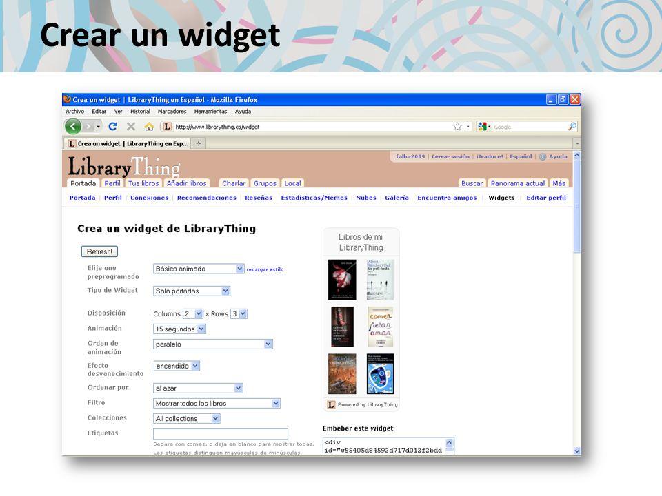 Crear un widget