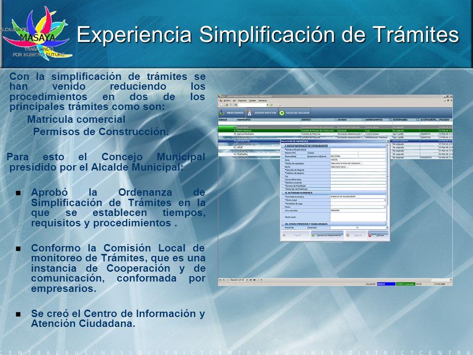 Con la simplificación de trámites se han venido reduciendo los procedimientos en dos de los principales trámites como son: Matrícula comercial Permiso