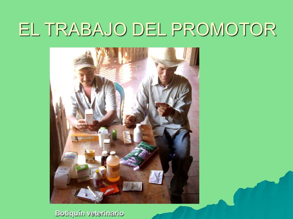 Botiquín veterinario EL TRABAJO DEL PROMOTOR