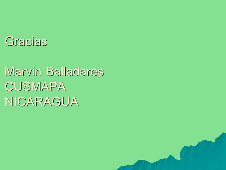 Gracias Marvin Balladares CUSMAPA NICARAGUA