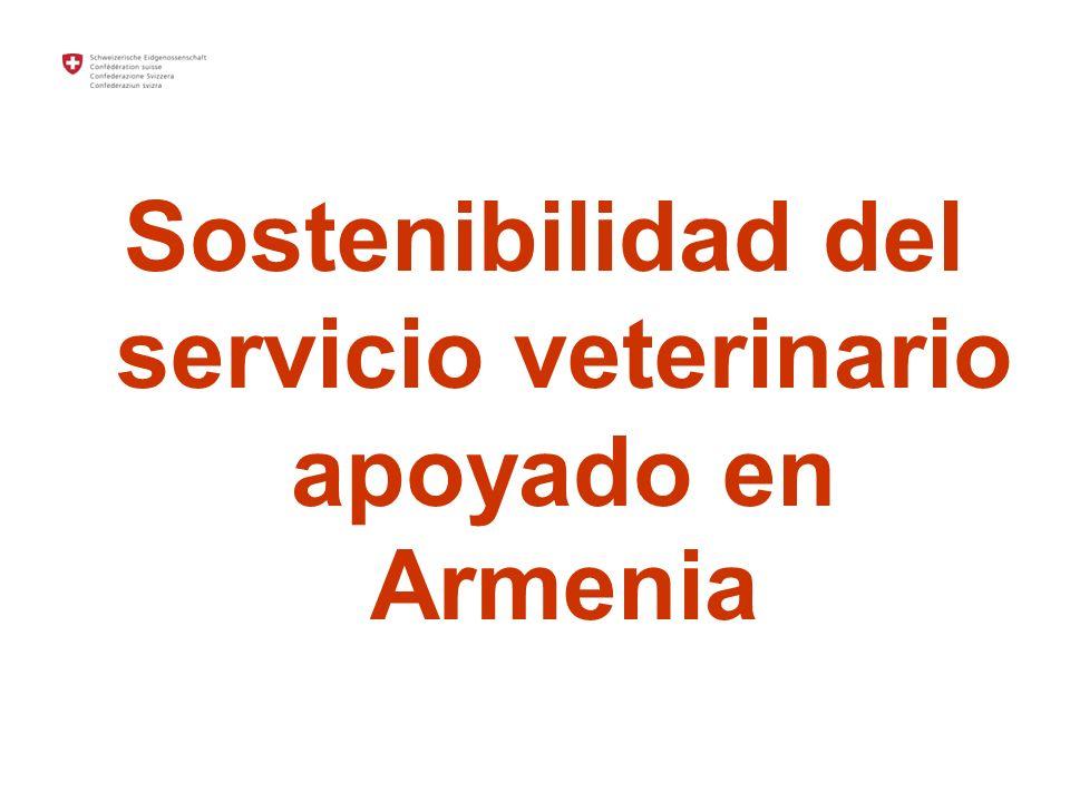 Sostenibilidad del servicio veterinario apoyado en Armenia