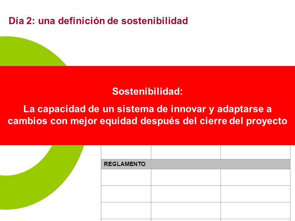 1 Desde actividades puntuales - > sistemas (rosquilla) Conclusión de sostenibilidad: cómo.