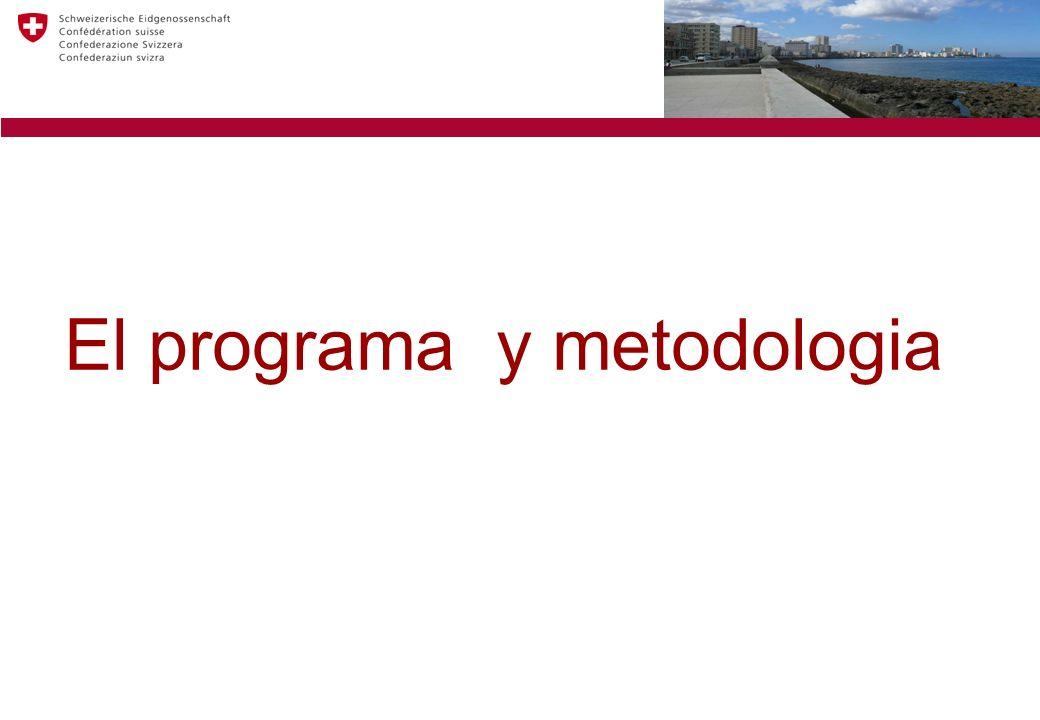 El programa y metodologia