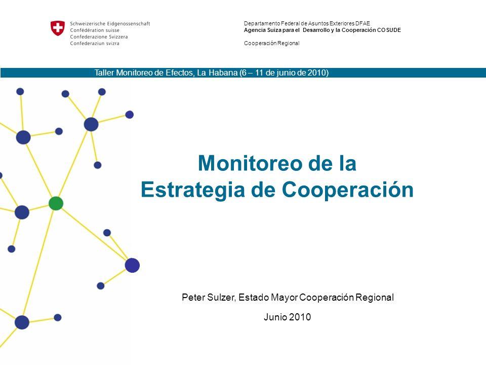 2Taller Monitoreo de Efectos, La Habana, 06.06-11.06.2010 Monitoreo Estrategia de Cooperación Productos REO II Output 4: Concepto para el Monitoreo de las Estrategias de Cooperación y los Programas a Mediano Plazo aprobado 19 de Octubre 2009 Guía para la elaboración de las Estrategias de Cooperación y los Programas a Mediano Plazo por aprobarse Junio 2010