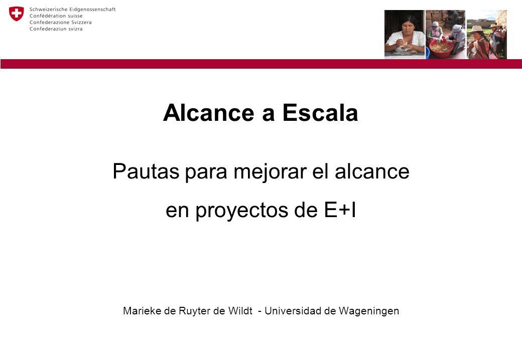 Estructura de alcance a escala 1.Definir qué significa alcance a escala 2.Examinar por qué alcance es tan importante 3.Enfoque adecuado para lograr alcance Qué.