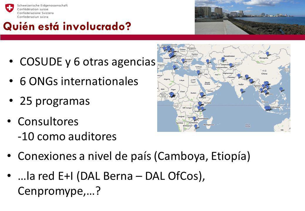 Quién está involucrado? www.Enterprise-Development.org COSUDE y 6 otras agencias 6 ONGs internationales 25 programas Consultores -10 como auditores Co