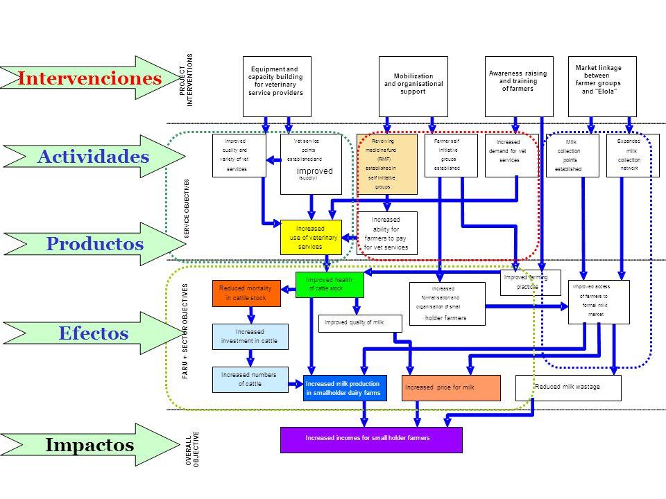 Impactos Actividades Intervenciones Productos Efectos