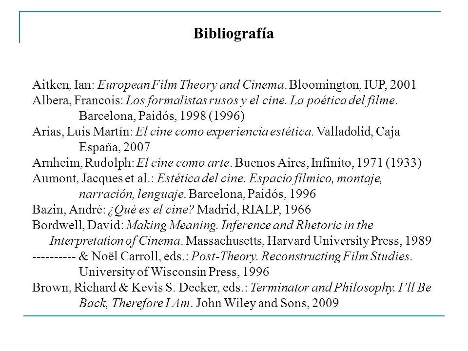 Bibliografía Cabrera, Julio: Cine: 100 años de filosofía.