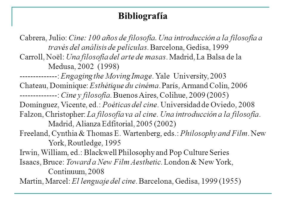 Bibliografía Metz, Christian: Ensayos sobre la significación del cine (1968-1972), 2 vols.