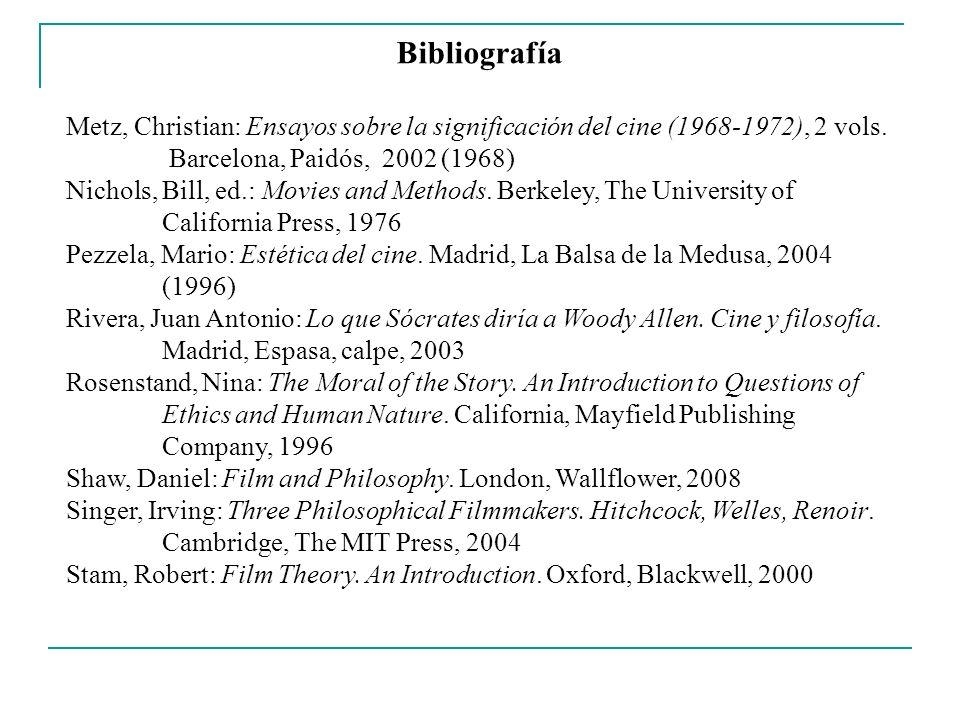 Bibliografía Thomson-Jones, Katherine: Aesthetics & Film.