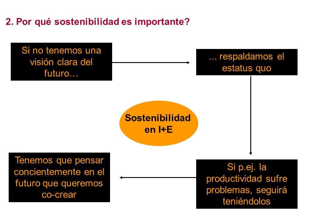 Sostenibilidad La capacidad del sistema que asegura que los beneficios continúen más allá del proyecto La esencia del cambio sistémico (diferencia entre desarrollo y emergencia) Qué: Por qué: Cómo?Cómo podemos desarrollar un imagen trasparente de sostenibilidad?