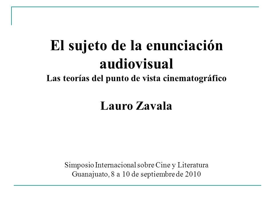 El sujeto de la enunciación audiovisual Las teorías del punto de vista cinematográfico Lauro Zavala Simposio Internacional sobre Cine y Literatura Gua