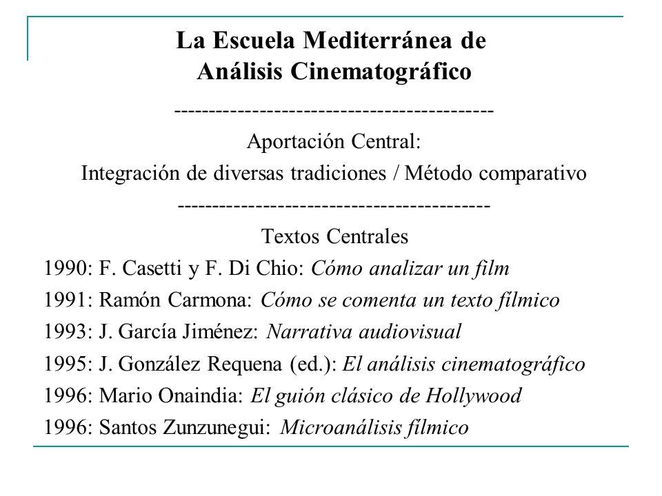 La Escuela Mediterránea de Análisis Cinematográfico -------------------------------------------- Aportación Central: Integración de diversas tradicion