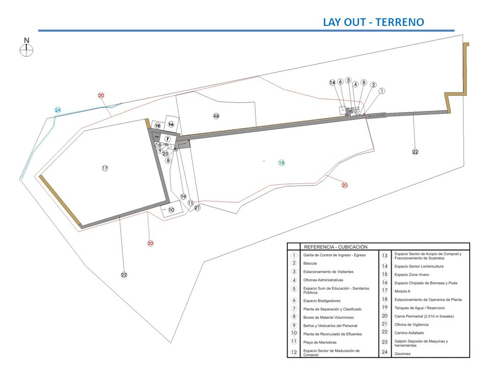 LAY OUT - TERRENO