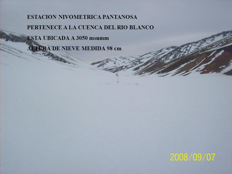 PERTENECE A LA CUENCA DEL RIO BLANCO ESTA UBICADA A 3050 msnmm ALTURA DE NIEVE MEDIDA 98 cm