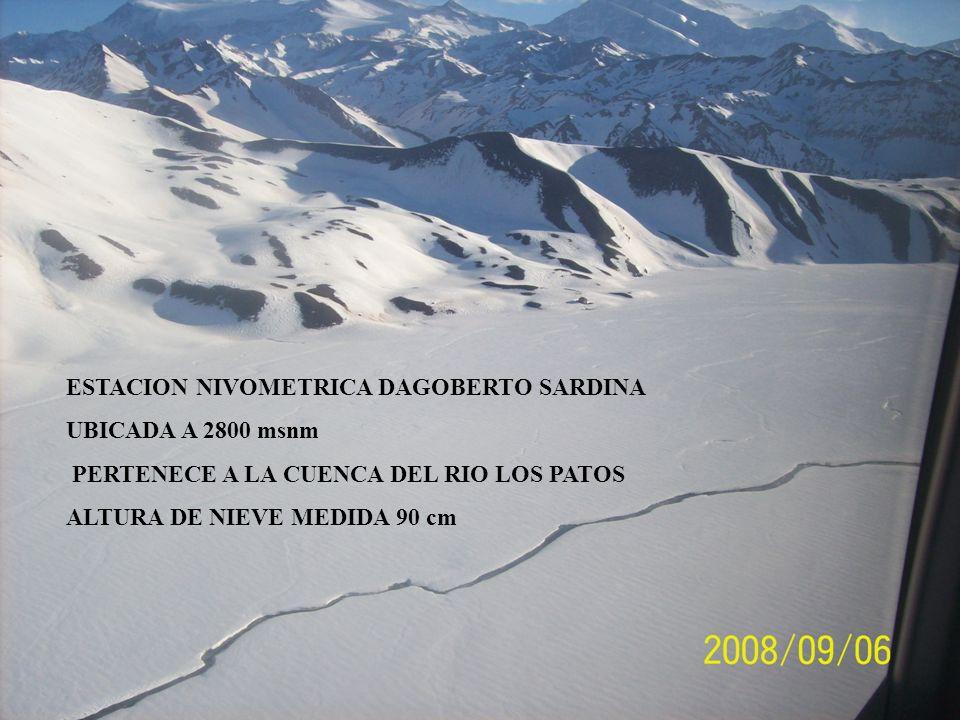 UBICADA A 2800 msnm PERTENECE A LA CUENCA DEL RIO LOS PATOS ALTURA DE NIEVE MEDIDA 90 cm