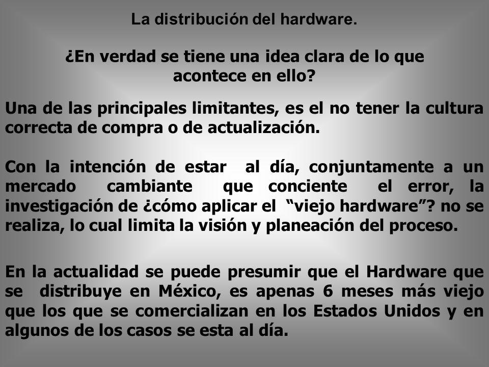 La distribución del hardware.¿En verdad se tiene una idea clara de lo que acontece en ello.