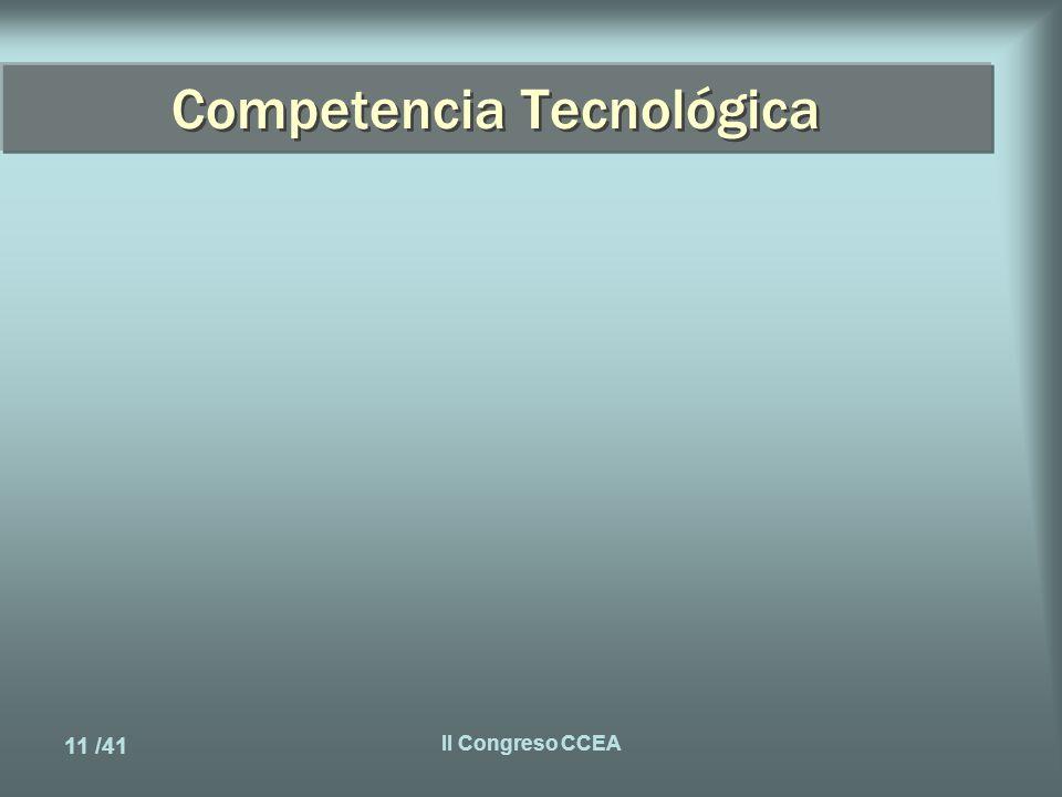 11 /41 II Congreso CCEA Competencia Tecnológica