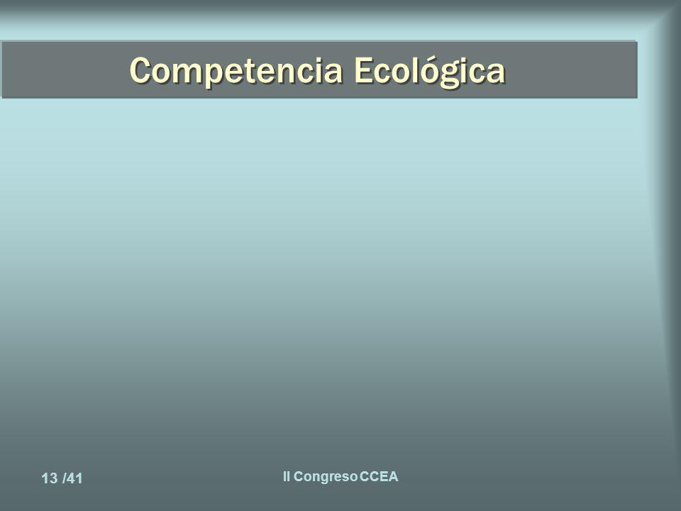 13 /41 II Congreso CCEA Competencia Ecológica